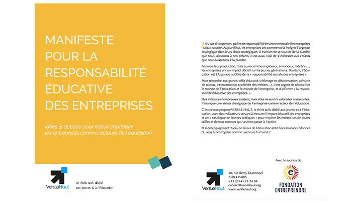 Manifeste pour la Responsabilité Éducative des Entreprises