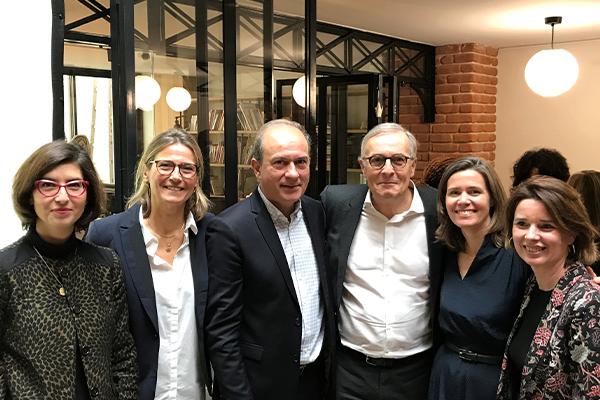 Les équipes d'AXA France, de la Fondation Entreprendre, EY et Femmes de Bretagne